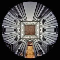 il Vestibolo della Biblioteca Medicea Laurenziana a Firenze