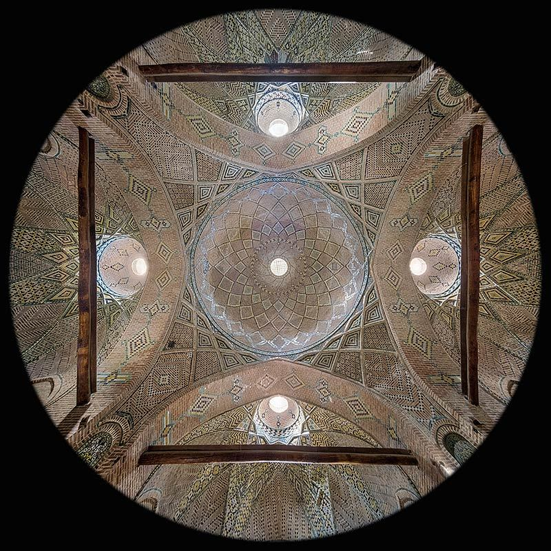 la Cupola Chahar Sough nel Caravanserraglio Sad-o-Saltaneh a Qazvin