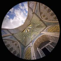 l'Iwan sud nella Grande Moschea a Zanjan