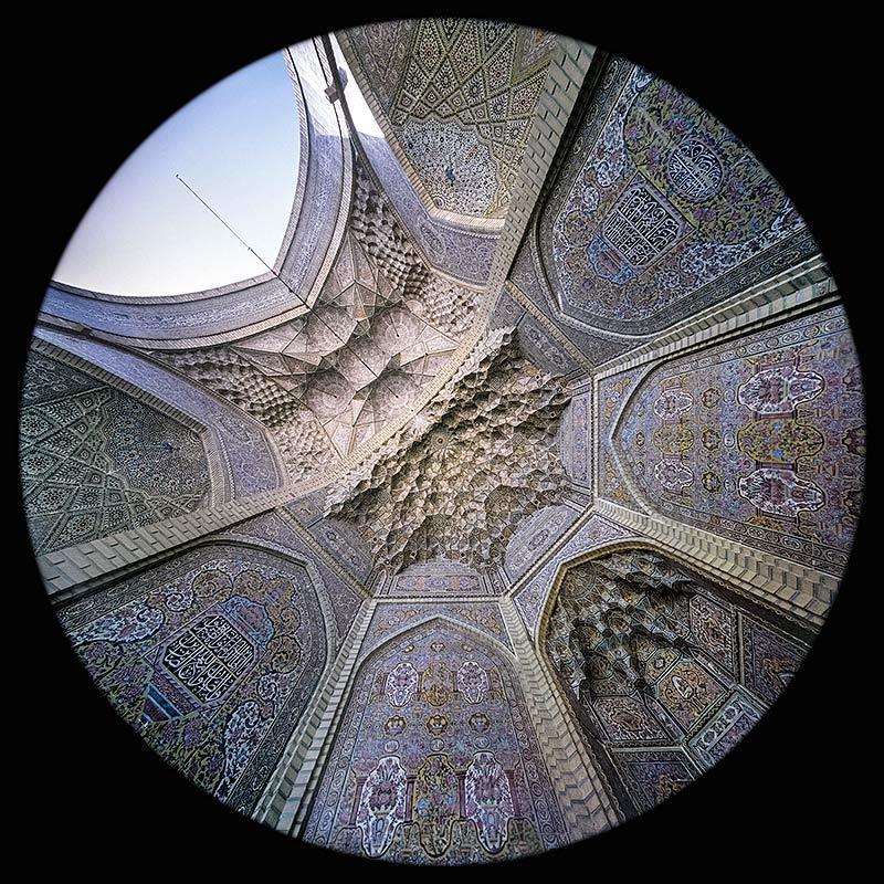 il Mihrab della Moschea Nasir al Molk a Shiraz