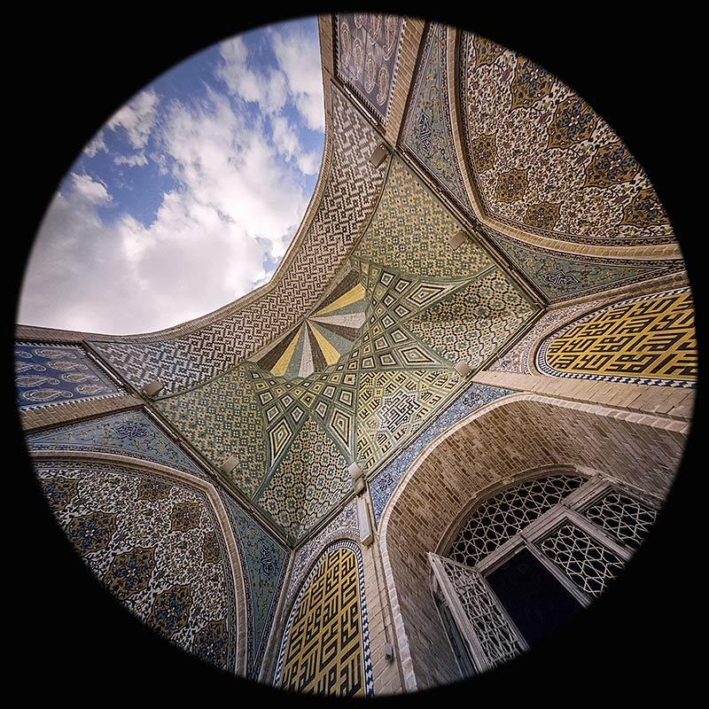 the south Iwan in the Great Mosque, Zanjan