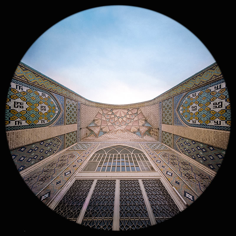 the northern Iwan in the Al Nabi Mosque, Qazvin