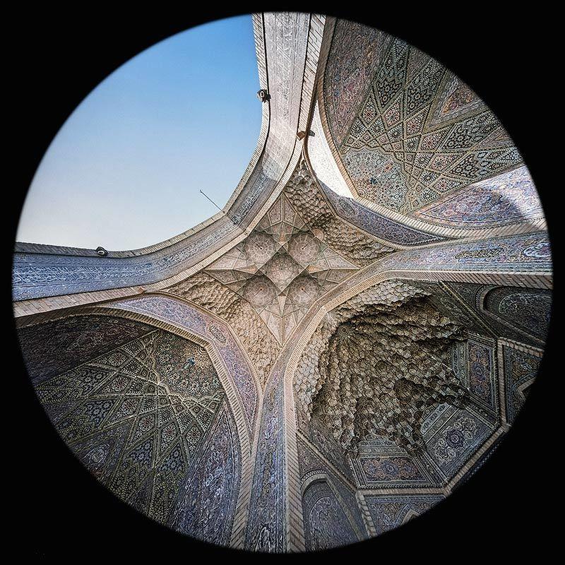 l'Iwan nord nella Moschea Nasir al Molk a Shiraz