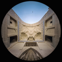 l'Iwan Shaagerd (est) nella Moschea Jameh Atigh a Esfahan