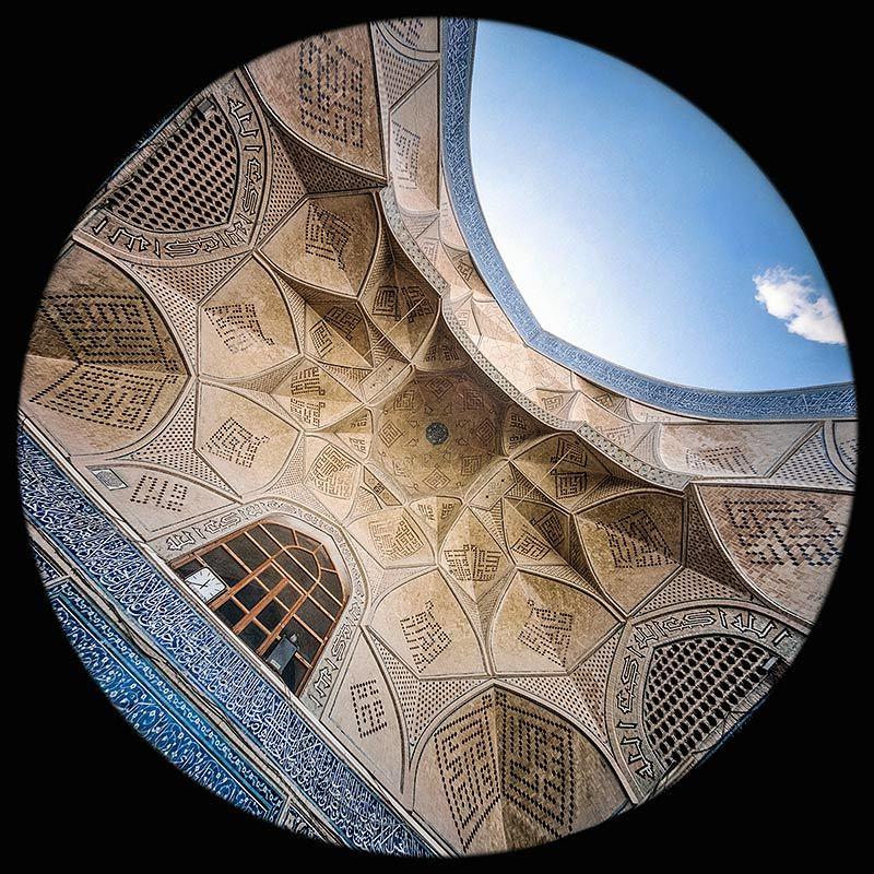 l'Iwan Saheb (sud) nella Moschea Jameh Atigh a Esfahan
