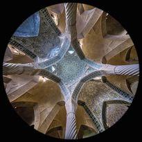 l'interno della Moschea Vakil a Shiraz